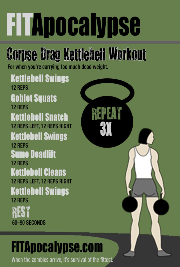 Corpse Drag Kettlebell Workout